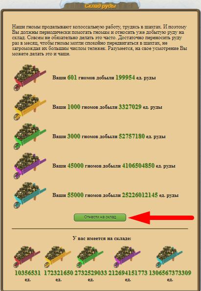 сбор руды