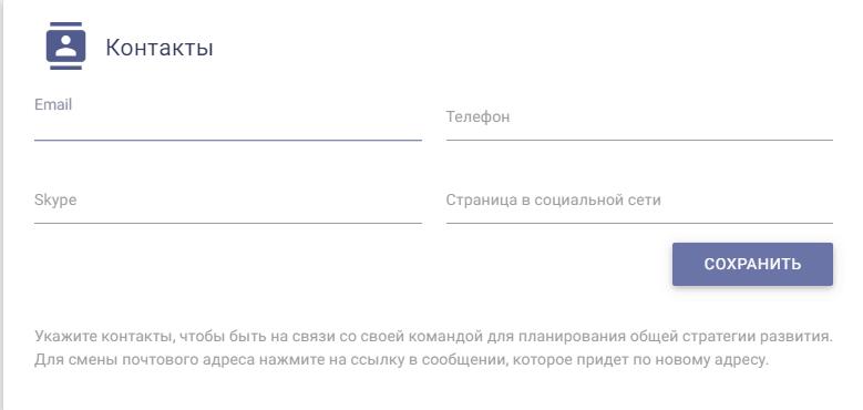 персональные данные-контакты