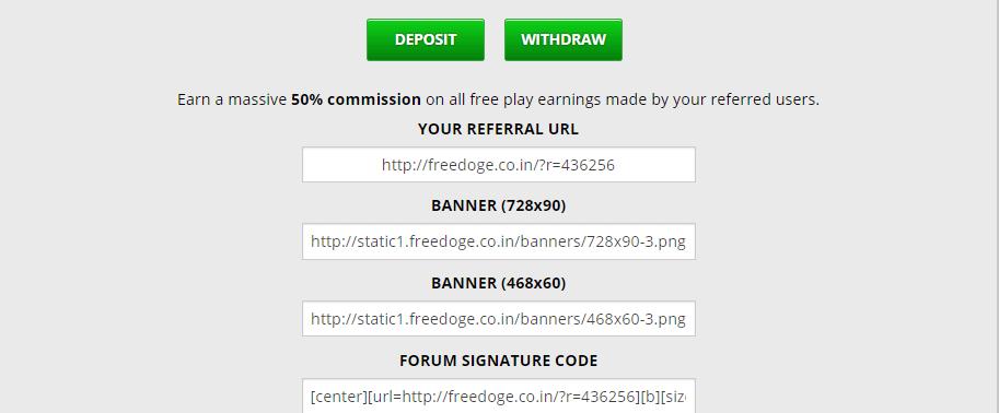 реферальная ссылка на проекте freedoge.co.in