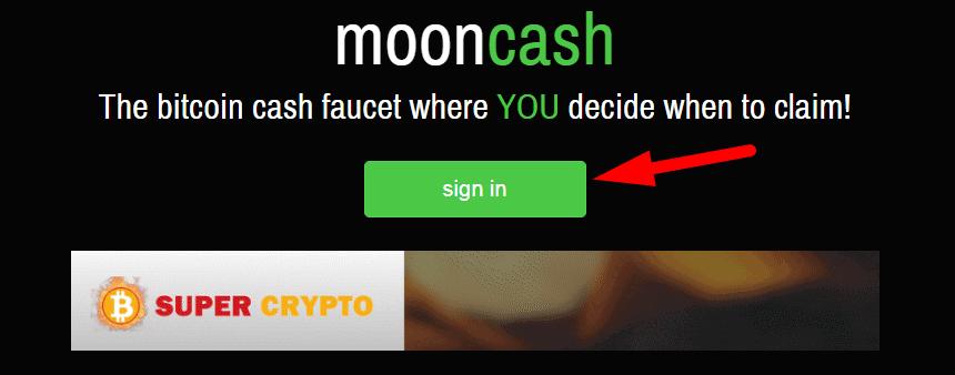 """кнопка """"sign in"""" для начала регистрации"""