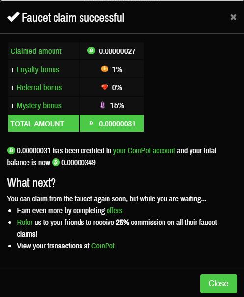 зачисление монет с крана и бонусов на moonbitcoin.cash
