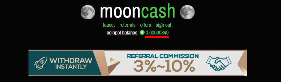 проверка баланса на кошельке CoinPot