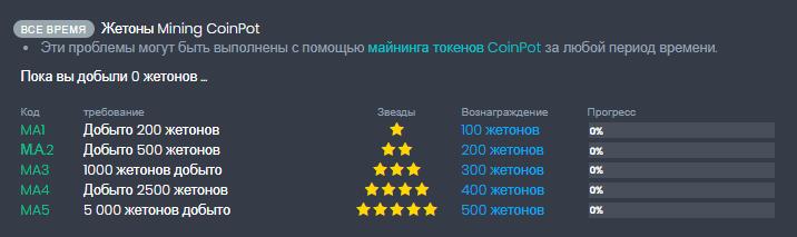 бонус за количество намайненных токенов