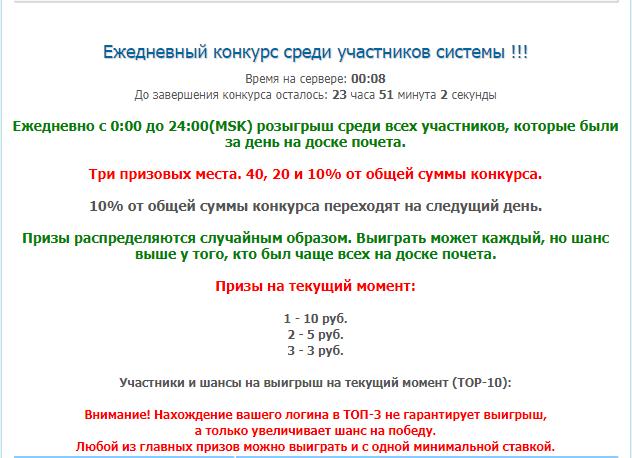 конкурс для пользователей участвующих в размещении своих аватарок на доске почета