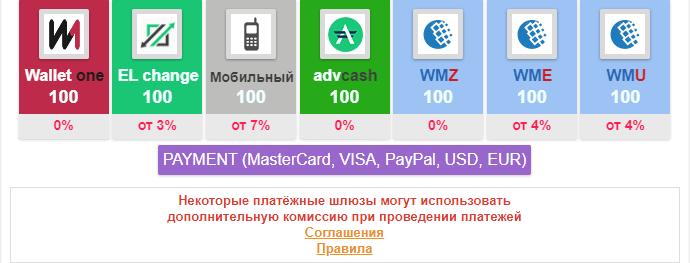 платежные системы для пополнения на seo fast