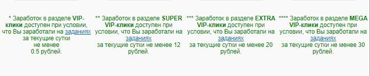 описание vip-пакетов