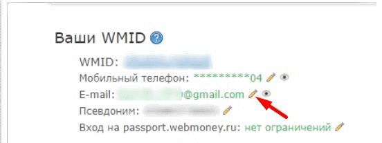 иконка карандаша для смены e-mail