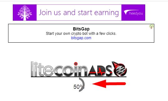 таймер для просмотра сайта на litecoinads