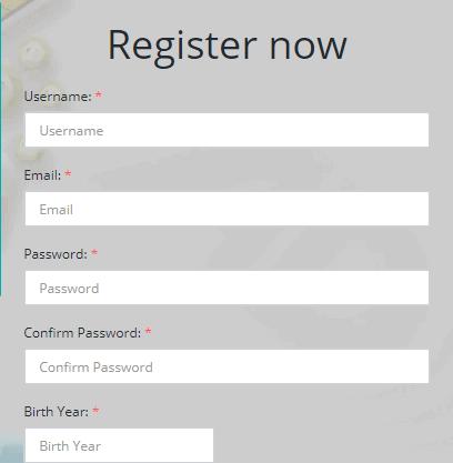 форма регистрации на сайте ad-doge