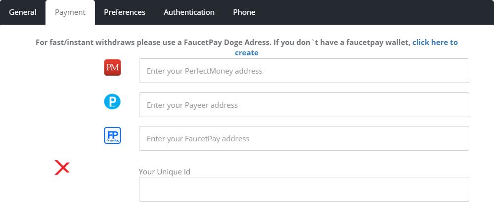форма добавлений платежных данных