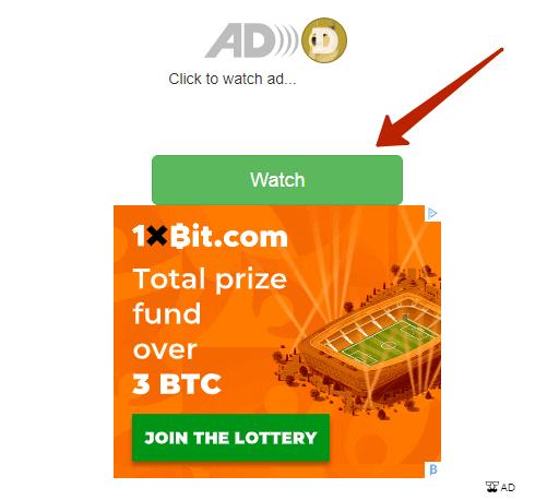 """кликабельная кнопка """"watch"""" для продолжения просмотра сайта"""