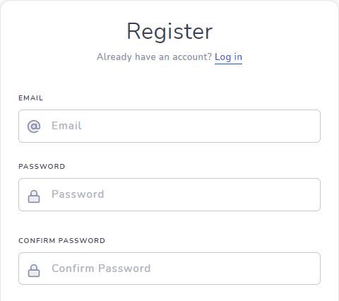 регистрационная форма сайта trxking