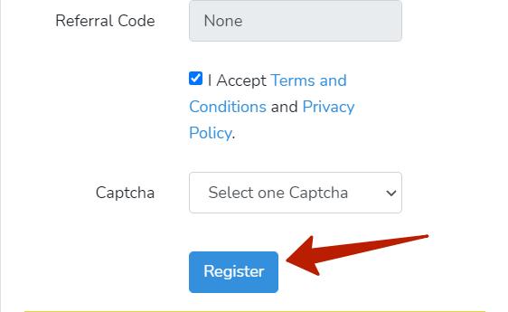 продолжение регистрационной формы