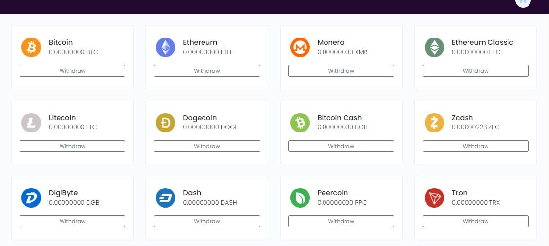криптовалюты в которых можно выводить заработанные средства на сайте autoclaim.in
