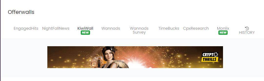 offerwalls на сайте autoclaim.in